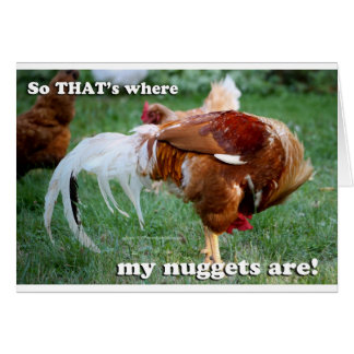 Chicken Nuggets - Rooster Greeting Card
