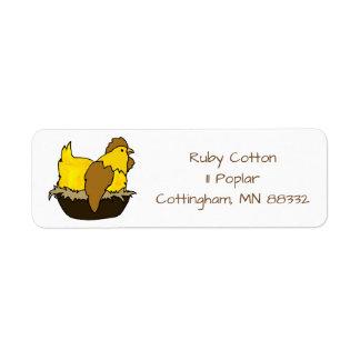 Chicken on a Nest Clip Art Address Labels
