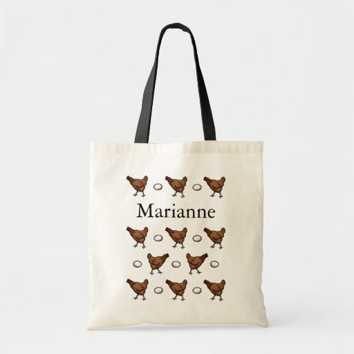 Chicken or the Egg, Add Your Name Tote Bags