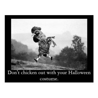 Chicken Out Halloween Postcard