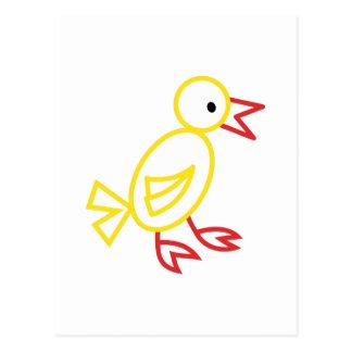 Chicken Outline Postcard