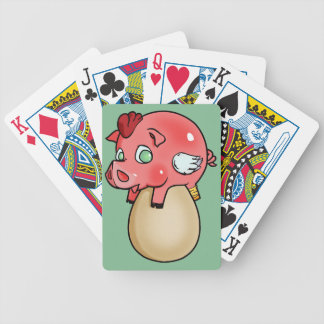 Chicken, Pig, Cheeken-Peeg! Bicycle Playing Cards