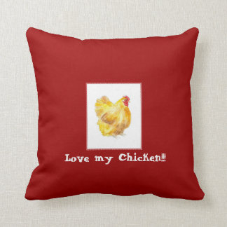 chicken pillow, buff orpington hen pillow