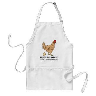 Chicken Poops Breakfast Funny Design Standard Apron
