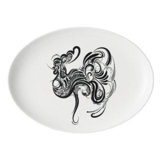Chicken Porcelain Serving Platter