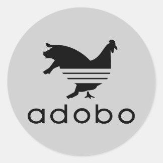 Chicken Pork Adobo (Sticker) Round Sticker