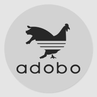 Chicken Pork Adobo (Sticker) Classic Round Sticker