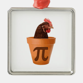 Chicken Pot Pi (and I don't care) Christmas Ornament