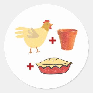 Chicken Pot Pie Classic Round Sticker