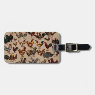 Chicken Poultry Of The World Bag Tag