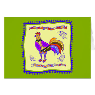 Chicken Quilt Card