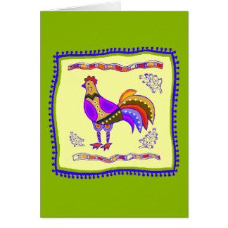 Chicken Quilt Greeting Card
