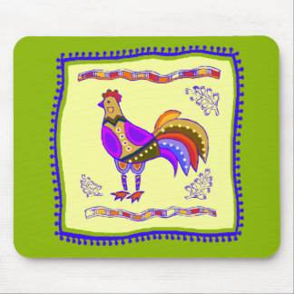 Chicken Quilt Mouse Pad