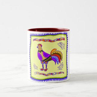 Chicken Quilt Coffee Mugs
