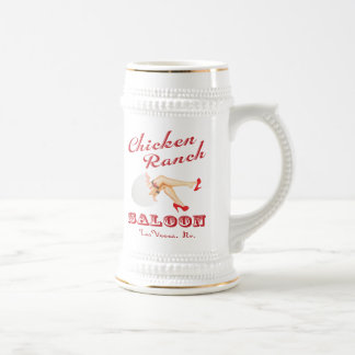 Chicken Ranch Saloon Beer Stein Mugs
