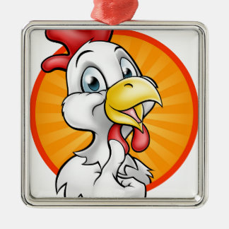 Chicken Rooster Cartoon Character Christmas Ornament