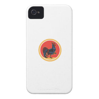 Chicken Rooster Marching Walking Circle Retro iPhone 4 Cover