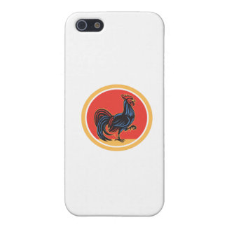 Chicken Rooster Marching Walking Circle Retro Case For iPhone 5/5S