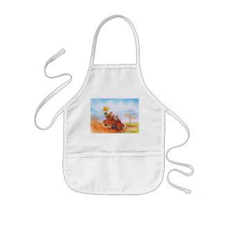 chicken run kids apron