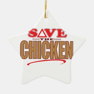 Chicken Save Ceramic Star Decoration