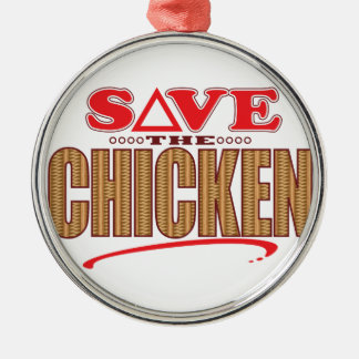 Chicken Save Christmas Ornament