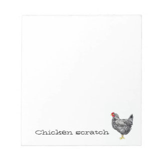 Chicken scratch paper pad