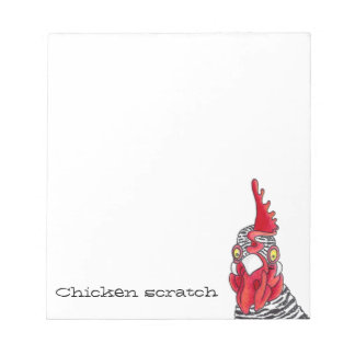 Chicken scratch paper pad funny humorous