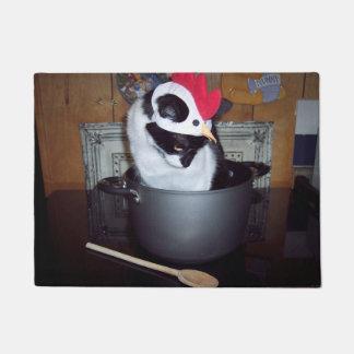Chicken Soup Cat Kitchen Mat