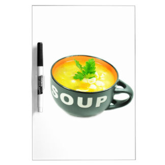 Chicken soup dry erase white board