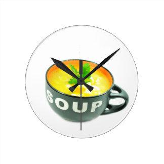 Chicken soup round clock