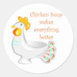Chicken Soup Round Sticker