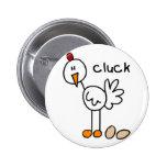 Chicken Stick Figure Button