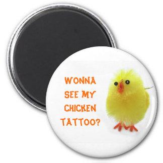Chicken Tattoo Magnet