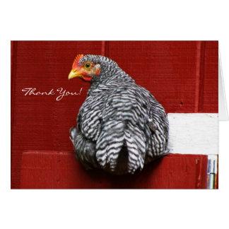 Chicken Turn Around Card