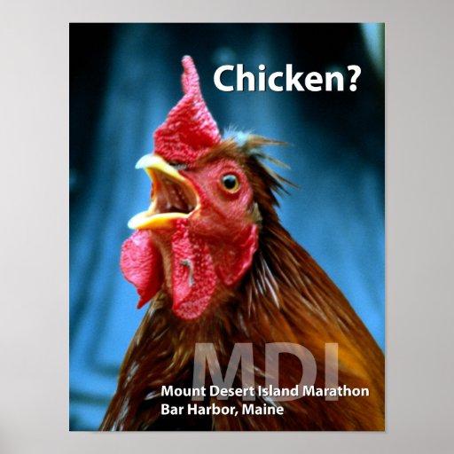 Chicken? - Undated Poster