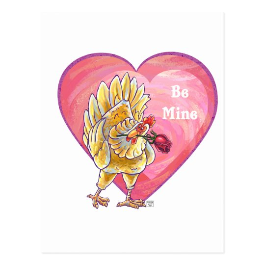 Chicken Valentine's Day Postcard