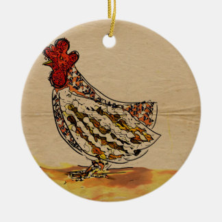 Chicken Vintage Christmas Ornament