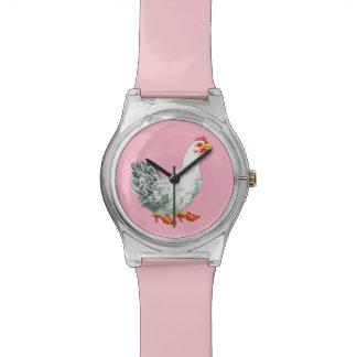 Chicken Watch (light pink)