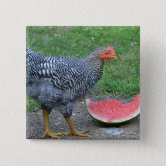 Chicken Watermelon Button