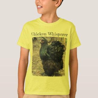 Chicken Whisperer with Black Cochin Hen T-Shirt