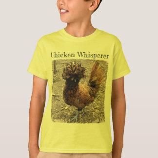 Chicken Whisperer with Golden Crested Polish Hen T-Shirt