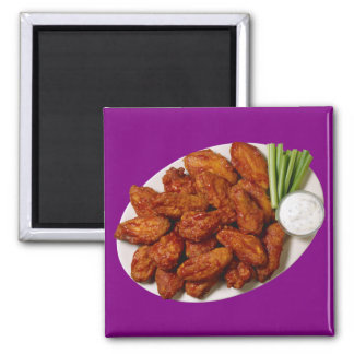Chicken Wings Square Magnet