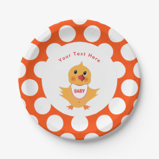 Chicken Yellow Baby Chick Personalized Paper Plate