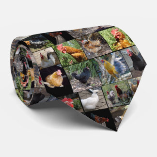 Chickens And Roosters , Unisex Silky Tie. Tie