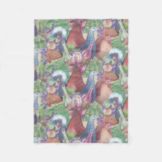Chickens and Wine Fleece Blanket