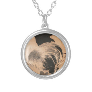 Chickens by Ito Jakuchu Round Pendant Necklace