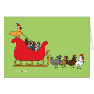 Chickens Christmas Card