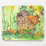 Chickens Hen Rooster Bird Farm Mouse Pad