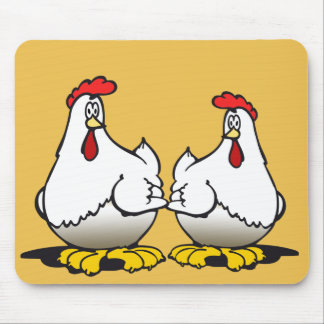 chickens mouse mat