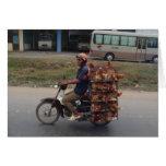 Chickens on Motorbike-Vietnam Card